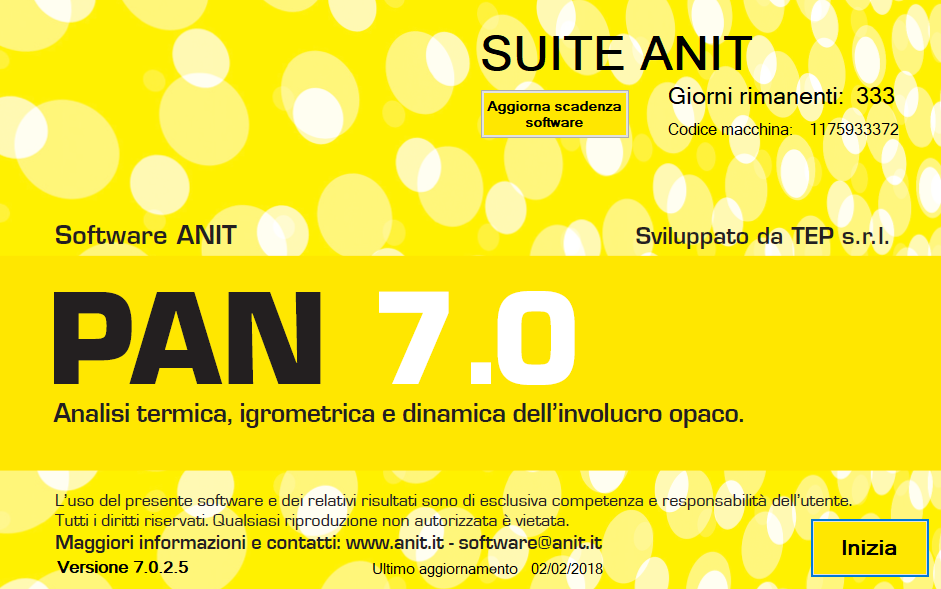 Software PAN analisi involucro